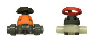 Manual diaphragm valves